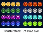 vector poker colors chips ...
