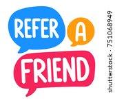refer a friend. vector three... | Shutterstock .eps vector #751068949