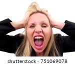 emotional woman   Shutterstock . vector #751069078