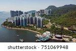 aerial view of seaside public...   Shutterstock . vector #751069948