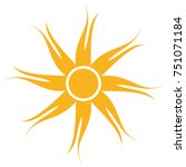 sun icon isolated on white... | Shutterstock .eps vector #751071184