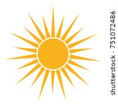 sun icon isolated on white... | Shutterstock .eps vector #751072486