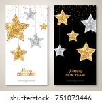 merry christmas and happy new... | Shutterstock .eps vector #751073446