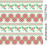 winter festive christmas... | Shutterstock .eps vector #751077913