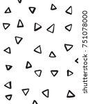 handsketched vector triangle... | Shutterstock .eps vector #751078000