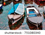autumn on the lake of croatia | Shutterstock . vector #751080340