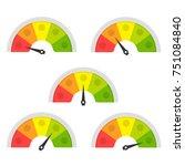 customer satisfaction meter.... | Shutterstock .eps vector #751084840