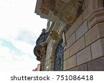 fragment of building in dresden ... | Shutterstock . vector #751086418