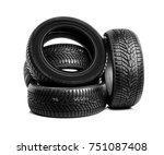 winter car tires. group of... | Shutterstock . vector #751087408