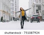 full length portrait of... | Shutterstock . vector #751087924