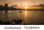 ferry sailing across the...   Shutterstock . vector #751089694