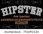 font alphabet vector typeface...   Shutterstock .eps vector #751092133