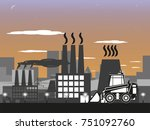 loader on the background of the ... | Shutterstock .eps vector #751092760