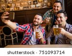 cheerful old friends having fun ... | Shutterstock . vector #751093714