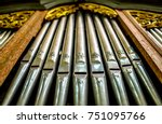Historic Pipe Organ At A Church
