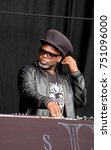 Small photo of Bestival - 8th September, 2017: Jazzie B with British band Soul ll Soul performing at Bestival festival , Lulworth, Dorset 8 September 2017, UK
