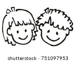 Head  Girl And Boy  Doodle ...