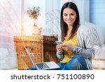 convenient gadgets. beautiful... | Shutterstock . vector #751100890