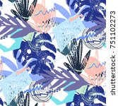 creative hand drawn textures.... | Shutterstock .eps vector #751102273