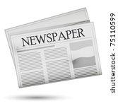 newspaper   vector. easy to... | Shutterstock .eps vector #75110599