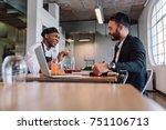 restaurant business manager... | Shutterstock . vector #751106713