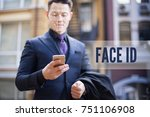 face recognition and unlocking... | Shutterstock . vector #751106908