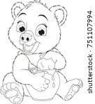 vector illustration  funny baby ... | Shutterstock .eps vector #751107994