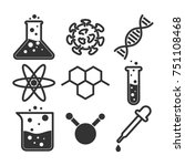 simple science icon set  vector ... | Shutterstock .eps vector #751108468