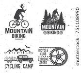 set of mountain biking clubs... | Shutterstock .eps vector #751108990