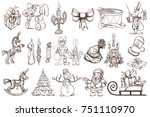 a large set of vector outline...