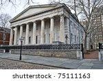 The Second Bank of America in historic old city Philadelphia, Pennsylvania. - stock photo