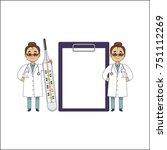 vector flat cartoon adult... | Shutterstock .eps vector #751112269