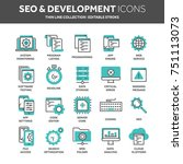 seo and app development. search ... | Shutterstock .eps vector #751113073