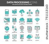 cloud omputing. internet... | Shutterstock .eps vector #751113160