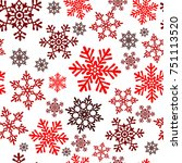 snowflakes seamless pattern....   Shutterstock .eps vector #751113520