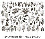 big set of christmas unique... | Shutterstock .eps vector #751119190