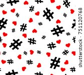 hashtag icon seamless pattern.... | Shutterstock .eps vector #751120768