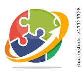 logo icon for business... | Shutterstock .eps vector #751121128