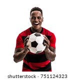 fan   sport player on red and... | Shutterstock . vector #751124323