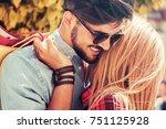 shopping. beautiful young...   Shutterstock . vector #751125928