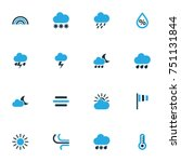 climate colorful icons set....   Shutterstock .eps vector #751131844