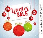 christmas big winter sale | Shutterstock .eps vector #751136278