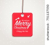 merry christmas   happy new... | Shutterstock .eps vector #751137550