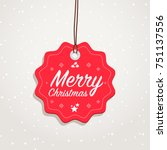 merry christmas badge | Shutterstock .eps vector #751137556
