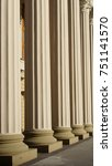 Small photo of Old Historic Entrance To An Atheneum With Ionic Columns