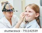 female doctor of ent ear nose... | Shutterstock . vector #751142539