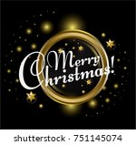 merry christmas  text for... | Shutterstock .eps vector #751145074