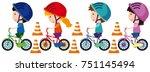Children Riding Bike With...