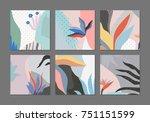 set of creative universal... | Shutterstock .eps vector #751151599