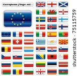 extra glossy button flags. big... | Shutterstock . vector #75115759